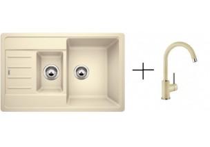 Комплект мойка Blanco Legra 6S Compact + смеситель Blanco Mida (хром/гранит)