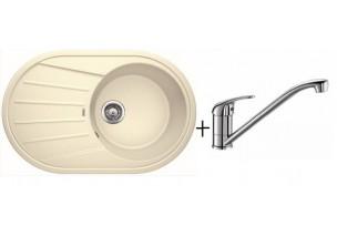 Комплект мойка Blanco Tamos 45S + смеситель Blanco Daras (хром)