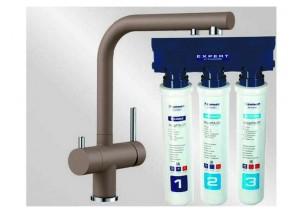 Комплект смеситель Blanco Fontas II (мускат) + BWT Барьер Expert Standart